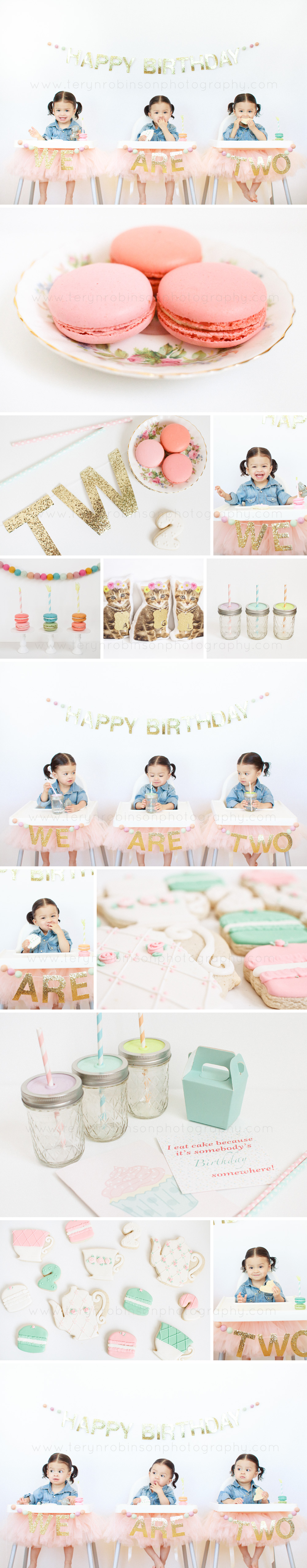 2nd birthday blog collage Robinson Triplet Update   We Are Two!